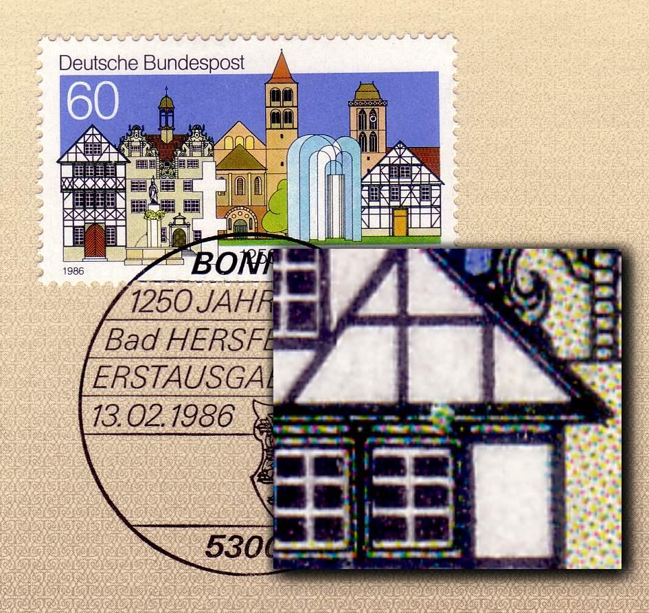 1271v bad hersfeld wei er fleck ber fenster f 7 etb ebay. Black Bedroom Furniture Sets. Home Design Ideas