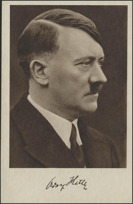 Ansichtskarte Adolf Hitler Sonderstempel Braunau Geburtstag 20 4