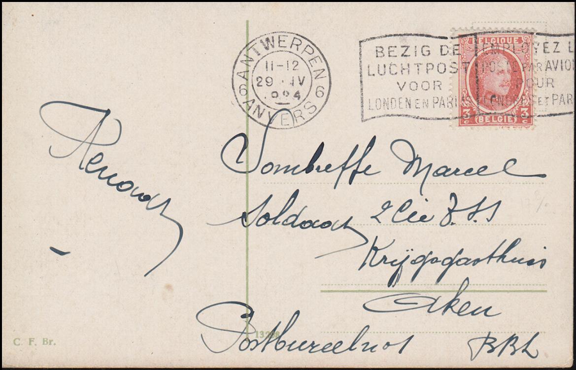Briefe Nach Indien : Flugpost niederlande postkarte flug nach