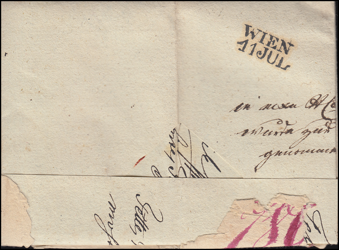 Brief Nach Wien Versenden : Ungarn vorphilatelie privater r brief aus pesth vom