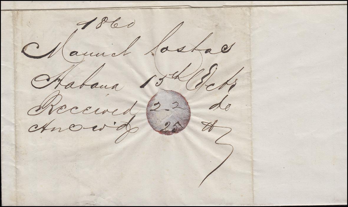 Brief Nach New York : Brief von ab havanna nach new york mit k steamship