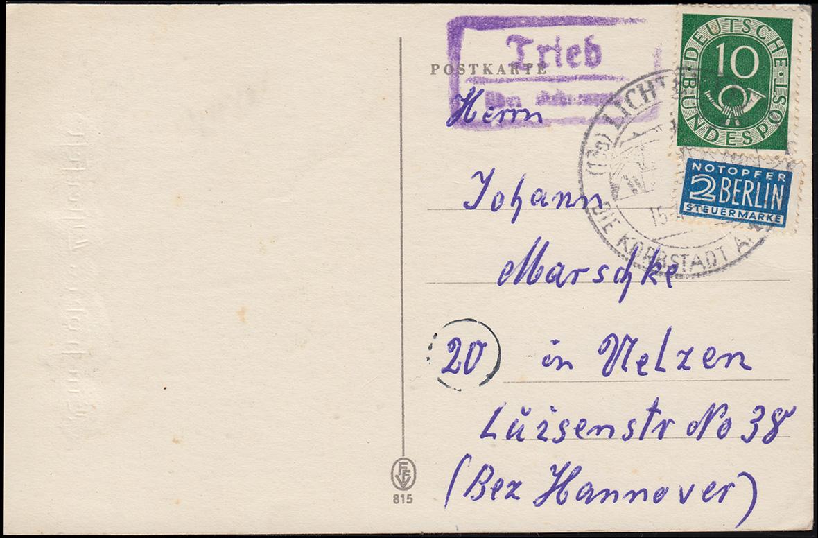 bahnpost berlin lehrte auf postkarte mit ef brustschild 1 2 groschen philmaster. Black Bedroom Furniture Sets. Home Design Ideas