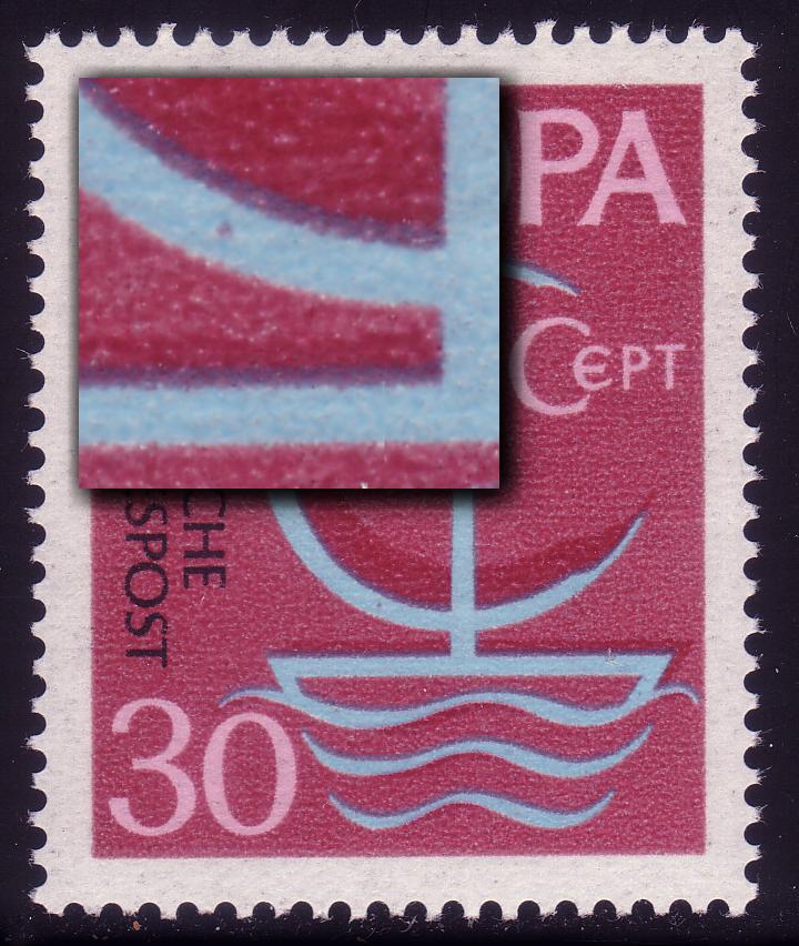 520 europa 30 pf roter punkt im c symbol feld 6 philatelie dietrich. Black Bedroom Furniture Sets. Home Design Ideas