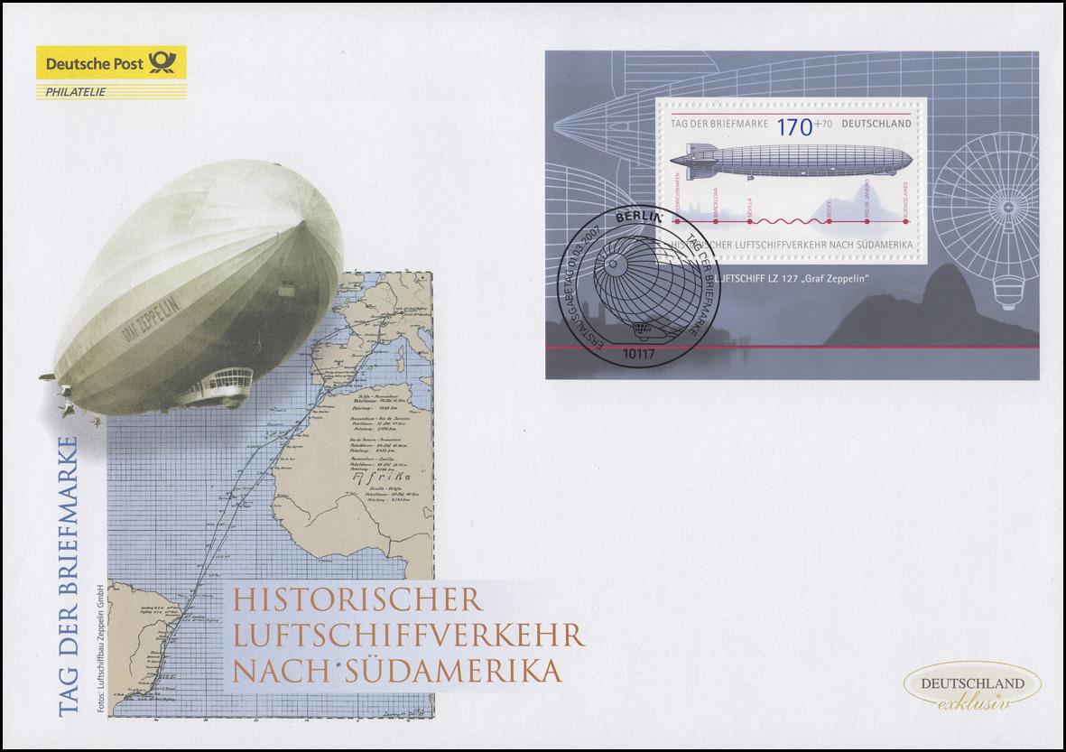 Brief Nach Hamburg Briefmarke : Tag der briefmarke graf zeppelin schmuck fdc