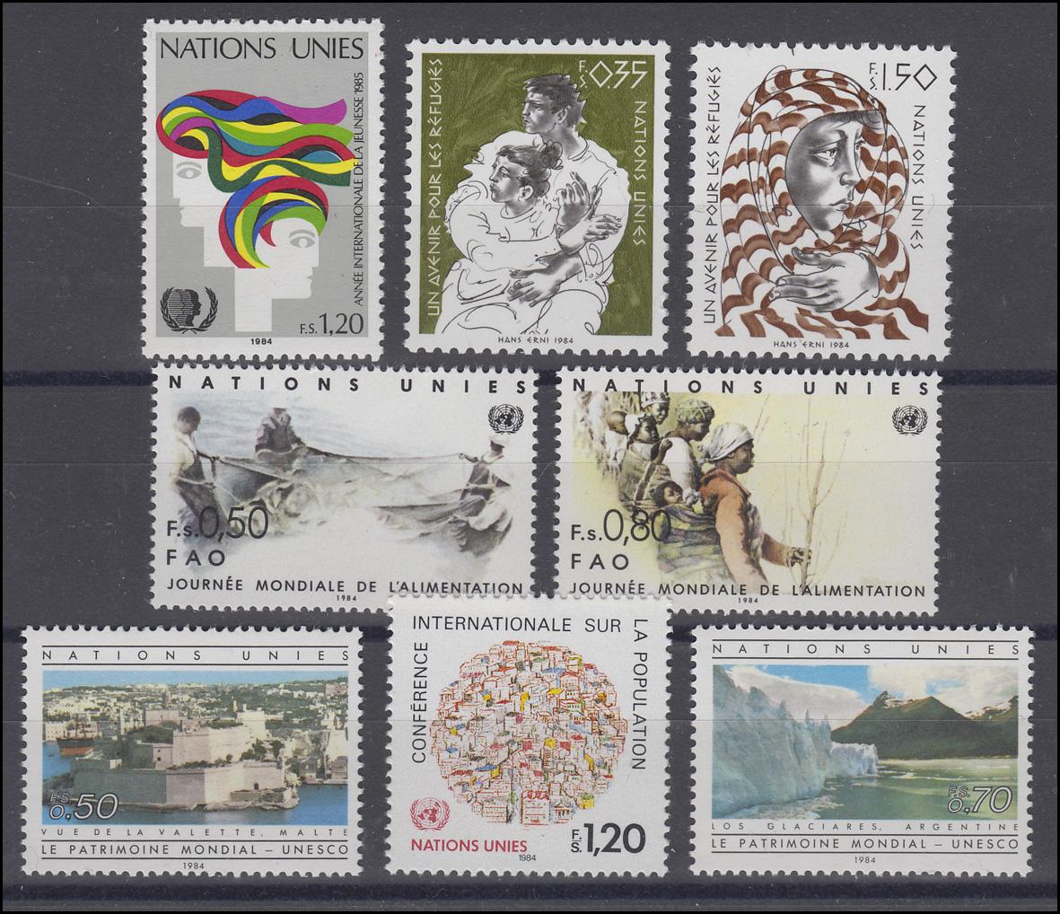 127-136 Uno Genf Jahrgang 1985 Komplett Weltweit Postfrisch ** Briefmarken