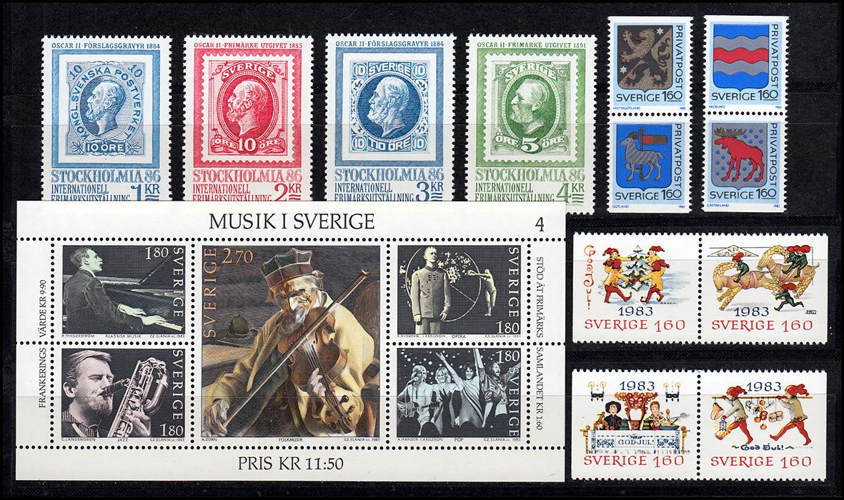 Schwedisches Rokoko Postfrisch 1979 Block 7 Mi Schweden 1078-1081