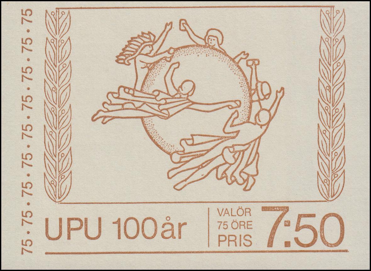 Markenheftchen 49x Archäologie ** Papier Nicht Fluoreszierend 1976