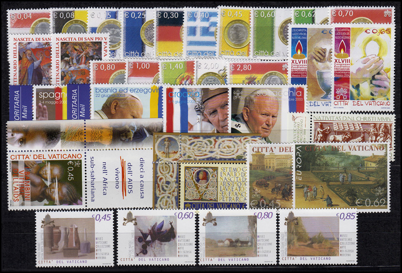 Vatikan Jahrgang 2004 Komplett Postfrisch ** Briefmarken Europa